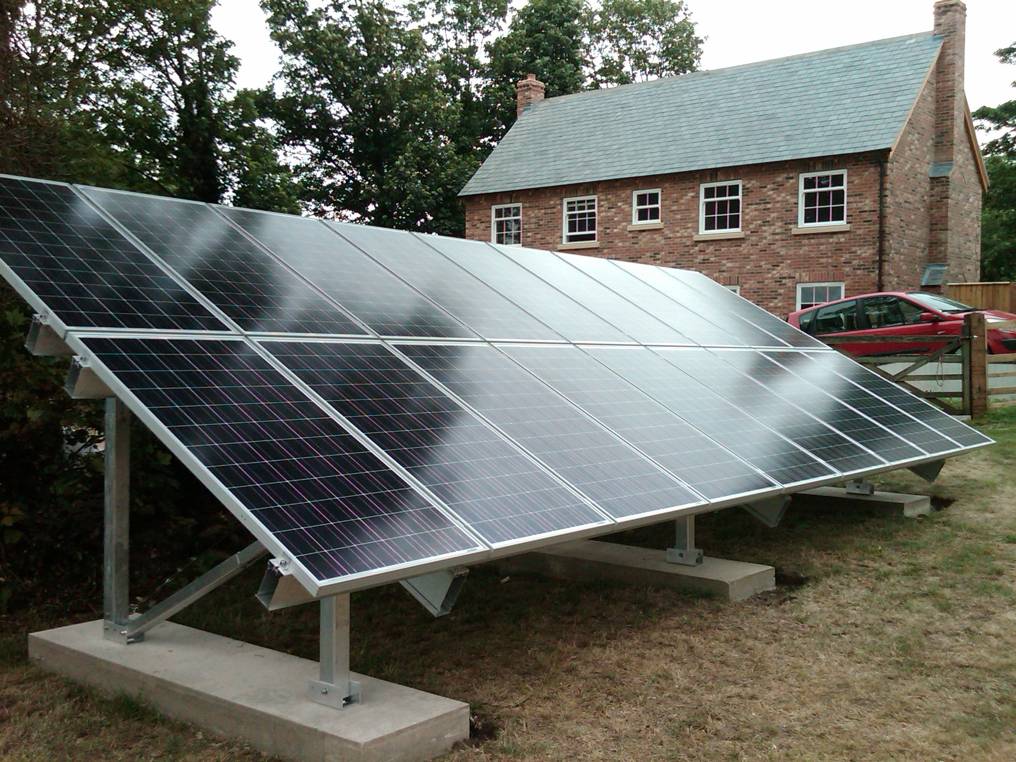 Solar Panel Ground Mount Systems Round Designs